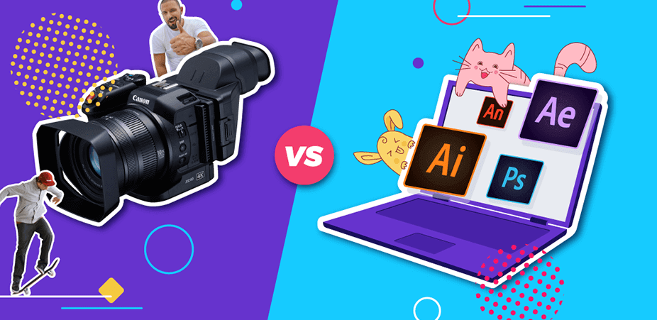 Animation Vs Live Action Videos Featured Image
