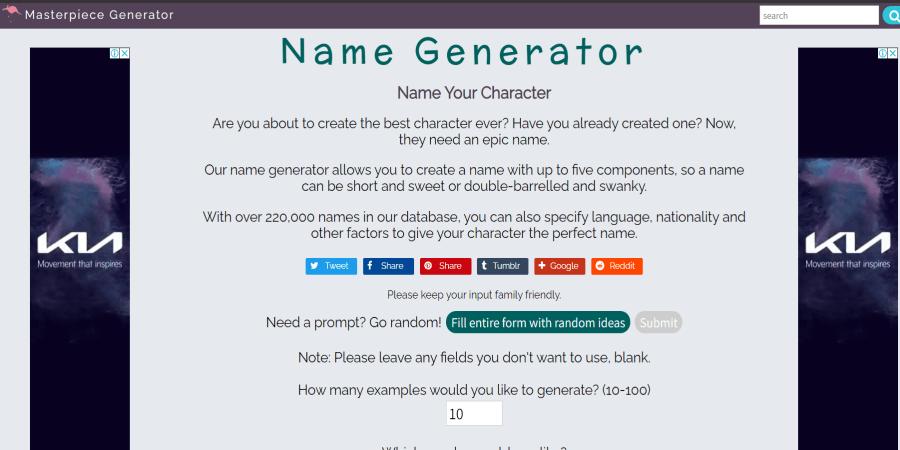 masterpiece generator